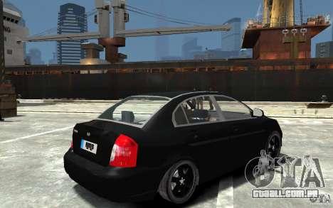 Hyundai Accent 2006 para GTA 4 vista direita