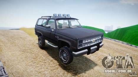 Chevrolet Blazer K5 Stock para GTA 4 vista inferior