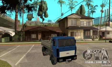 5551 MAZ caminhão para GTA San Andreas vista traseira