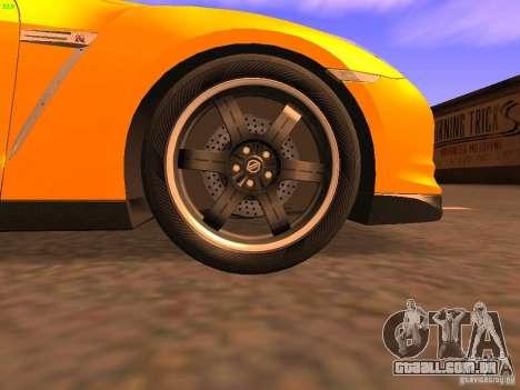 Nissan GT-R SpecV Black Revel para GTA San Andreas vista superior