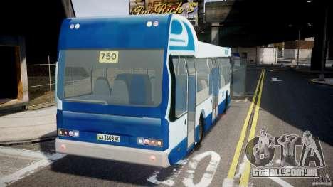 DAF Berkhof City Bus Amsterdam para GTA 4 traseira esquerda vista