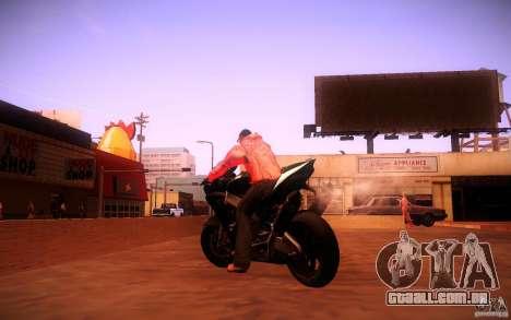 Aprilia RSV-4 Black Edition para GTA San Andreas traseira esquerda vista