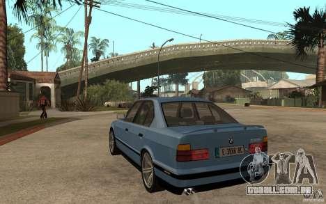 BMW E34 535i 1994 para GTA San Andreas traseira esquerda vista