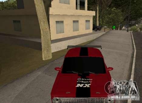 VAZ 2101 Drag para GTA San Andreas esquerda vista