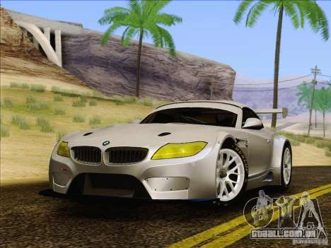 BMW Z4 E89 GT3 2010 Final para GTA San Andreas vista direita