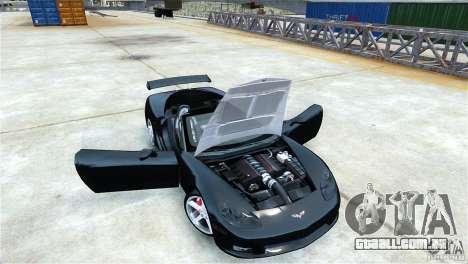 Chevrolet Corvette C6 Convertible v1.0 para GTA 4 traseira esquerda vista