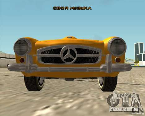 Mercedes Benz 190SL 1960 para GTA San Andreas vista superior
