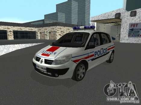 Renault Scenic II Police para GTA San Andreas