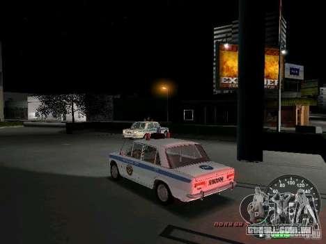 Polícia de 2101 VAZ para GTA Vice City vista traseira esquerda
