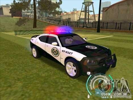 Dodge Charger Policia Civil from Fast Five para GTA San Andreas vista direita