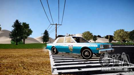 Dodge Diplomat 1983 Police v1.0 para GTA 4 esquerda vista
