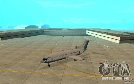 Yak-42 d Scat (Cazaquistão) para GTA San Andreas esquerda vista