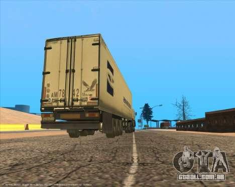 Semi-reboque para GTA San Andreas vista direita