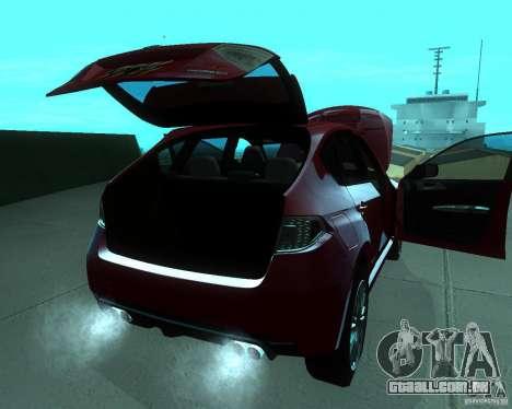 Subaru Impreza WRX STI Stock para GTA San Andreas vista direita