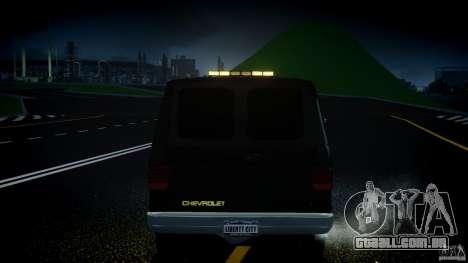 Chevrolet G20 Police Van [ELS] para GTA 4 interior