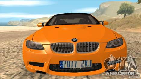 BMW M3 E92 para GTA San Andreas interior