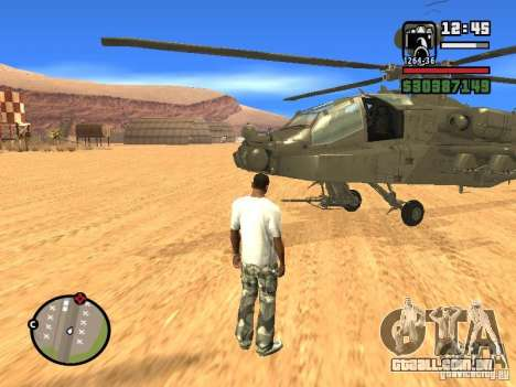 AH-64D Longbow Apache para GTA San Andreas vista direita