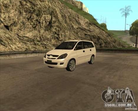Toyota Innova para GTA San Andreas