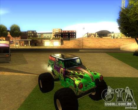 Grave Digger para GTA San Andreas esquerda vista
