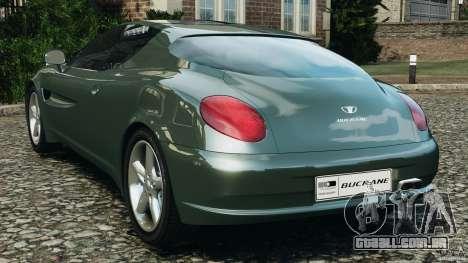 Daewoo Bucrane Concept 1995 para GTA 4 traseira esquerda vista