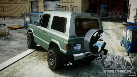 Mitsubishi Pajero I [Final] para GTA 4 vista interior