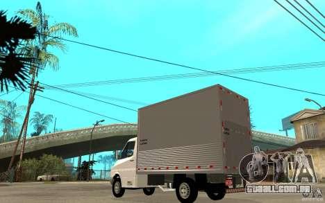 Mercedes-Benz Sprinter Truck para GTA San Andreas traseira esquerda vista
