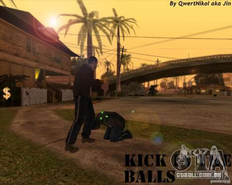 Kick in the balls para GTA San Andreas