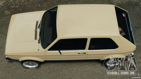 Volkswagen Golf Mk1 Stance para GTA 4 vista direita