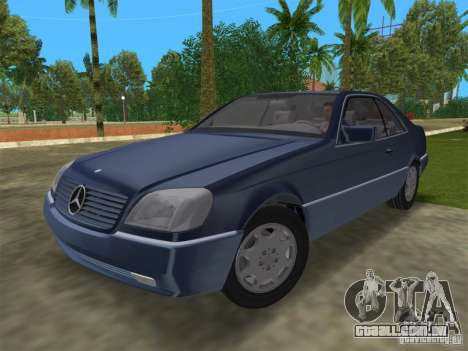 Mercedes-Benz 600SEC (C140) 1992 para GTA Vice City vista traseira