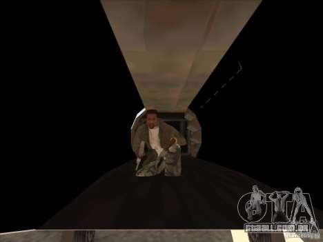 Cargo Shamal para GTA San Andreas vista interior
