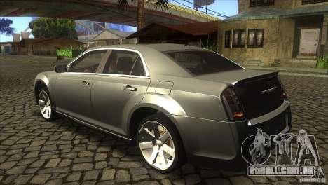 Chrysler 300 SRT-8 2011 V1.0 para GTA San Andreas traseira esquerda vista