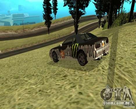 Monster Energy Vinyl para GTA San Andreas vista direita