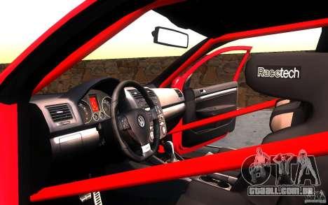 VolksWagen Golf GTI MK5 para vista lateral GTA San Andreas