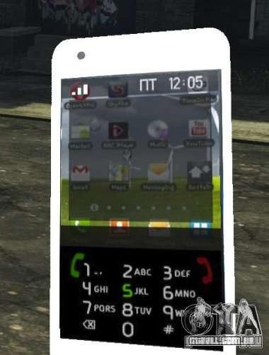 Samsung Galaxy S2 para GTA 4 quinto tela