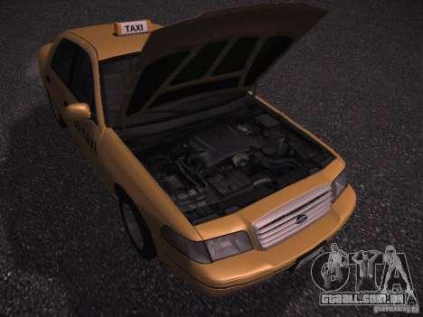 Ford Crown Victoria Taxi 2003 para GTA San Andreas vista traseira