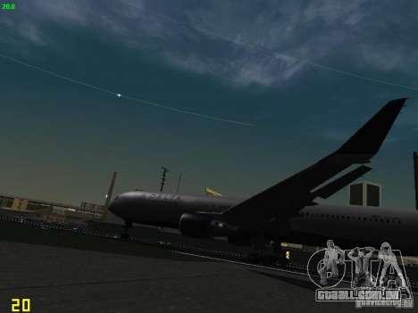Boeing 767-400ER Delta Airlines para GTA San Andreas vista interior