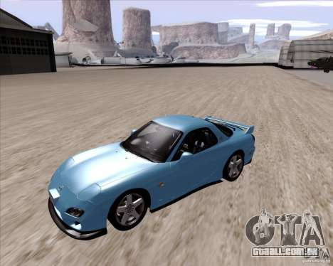 Mazda RX7 2002 FD3S SPIRIT-R (Type RS) para GTA San Andreas esquerda vista