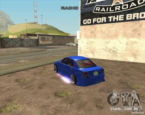Toyota JZX110 make 2 para GTA San Andreas esquerda vista