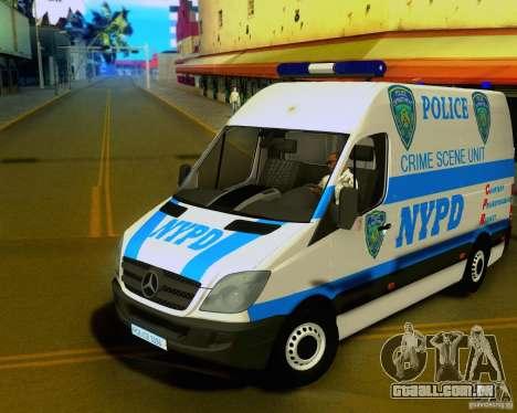 Mercedes Benz Sprinter NYPD police para GTA San Andreas