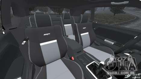 Dodge Challenger SRT8 2009 [EPM] para GTA 4 vista interior