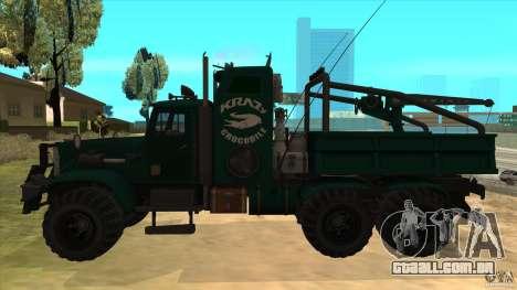 KrAZ 255 B1 Krazy-crocodilo para GTA San Andreas esquerda vista