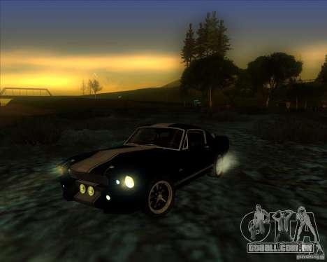 Shelby GT500 Eleanora clone para GTA San Andreas vista interior
