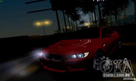 BMW M3 E92 v1.0 para GTA San Andreas vista direita