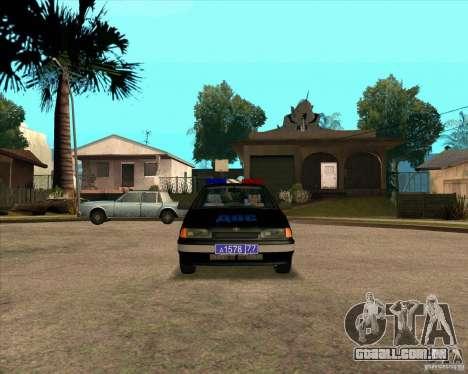 Vaz 2115 DPS para GTA San Andreas esquerda vista
