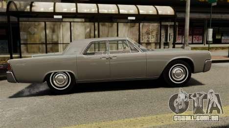Lincoln Continental 1962 para GTA 4 esquerda vista