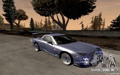 Mazda RX-7 Hellalush para GTA San Andreas esquerda vista