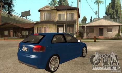 Audi S3 2007 - Stock para GTA San Andreas vista direita