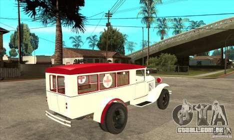 Ambulância de GAZ AA para GTA San Andreas vista direita