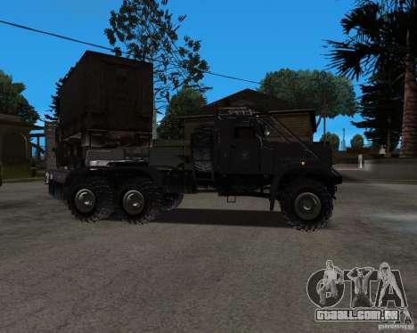 KrAZ 255 + reboque artict2 para GTA San Andreas vista direita