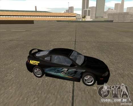 Mitsubishi Eclipse GST de NFS Carbon para GTA San Andreas traseira esquerda vista
